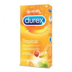 DUREX TROPICAL EASY ON Profilattici 6 Pezzi